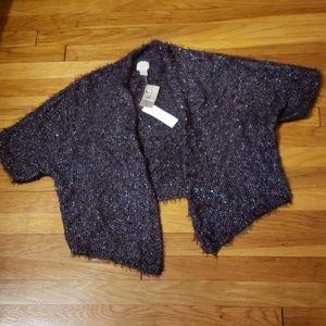 Chicos Cozy Shine Peggy Shrug 3/4 SLV Sweater